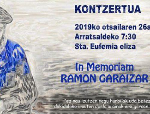 Homenaje musical al txistulari Ramon Garaizar en Bermeo