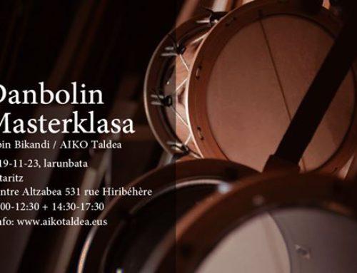 Sabin Bikandi ofrecerá una masterclass sobre el tamboril en Ustaritz