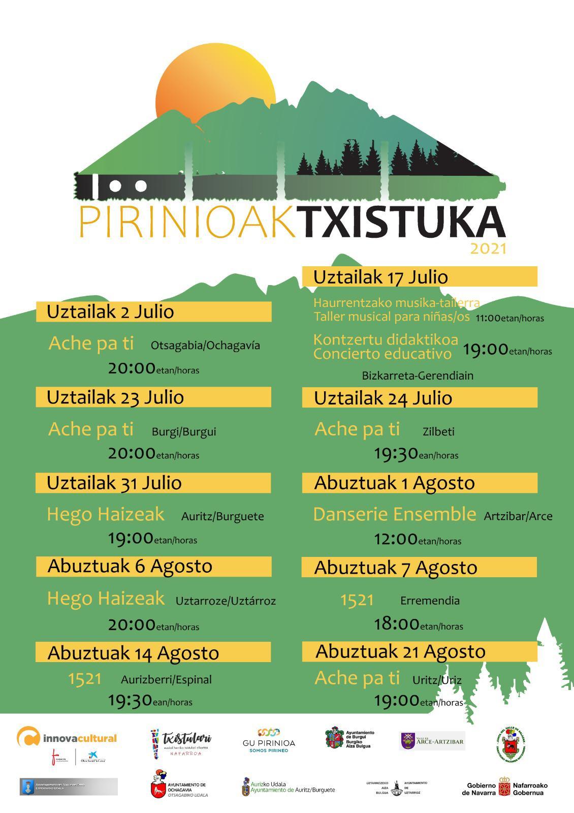 Pirinioak Txistuka 2021 Kartela